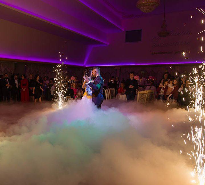 Pachet lumini ambientale plus fum greu nunta Deva